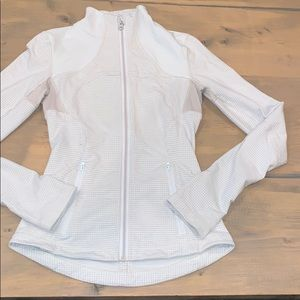 Lululemon athletica checkered zip up sweatshirt